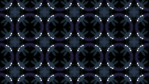 retro east flower neon pattern,stars and dots shaped as... Stock Video Footage
