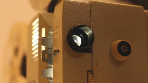 8mm Projector 04 sound Stock Video Footage