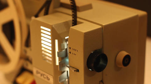 8mm Projector 06 sound Stock Video Footage