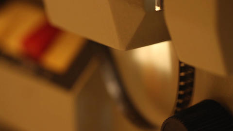 8mm Projector 08 closeup sound Stock Video Footage