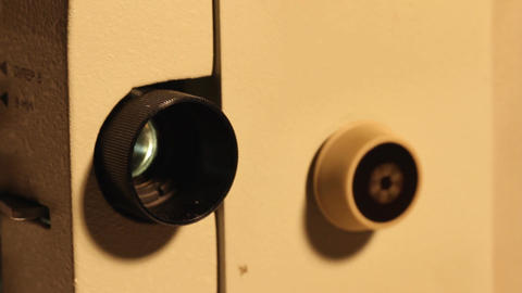 8mm Projector 12 closeup sound Stock Video Footage