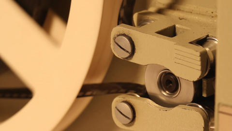 8mm Projector 14 closeup sound Stock Video Footage