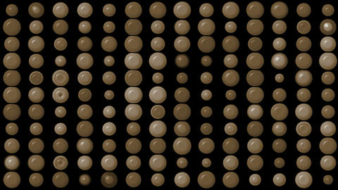 brown circle array... Stock Video Footage