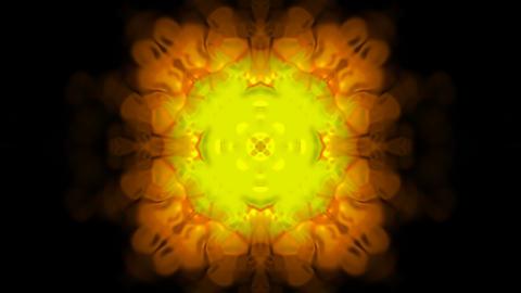 Gold flower pattern,gorgeous east religion fancy... Stock Video Footage
