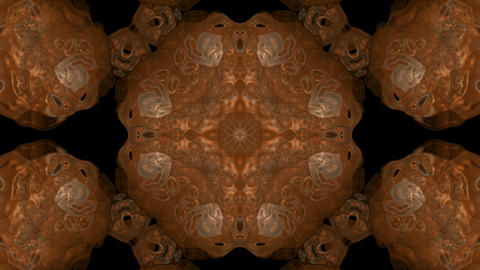 Gold material flower pattern,shield,copper armor,gorgeous east religion fancy background.atoms,molec Animation