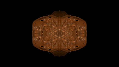 Copper armor,gold material flower pattern,shield,gorgeous east religion fancy background.Fractal,ato Animation