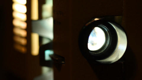 8mm Projector Parts Closeup 01 3 in 1 Stock Video Footage