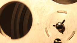 8mm Projector Reel 04 sound Stock Video Footage