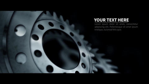 Innovation - Motivational Opening Intro Title Sequence Cog Animation Background After Effects Template