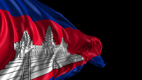 Flag of Cambodia Animation