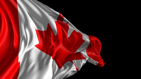 Flag of Canada Animation