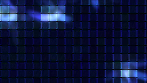 Lights Shining Through Glass Tiles - Loop Blue Animation