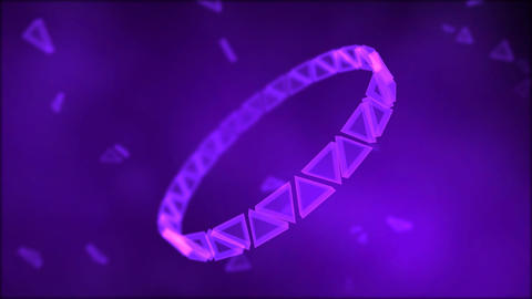 Rotating Ring of Triangles Animation - Loop Purple Animation
