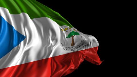 Flag of Equatorial Guinea Animation