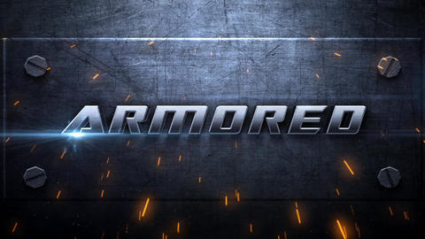 Armored Metallic Intro After Effects Template
