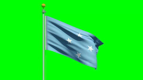 Waving Flag Of The Federated States Of Micronesia stock footage