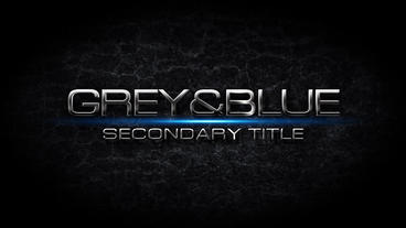 Grey & Blue short After Effects Template