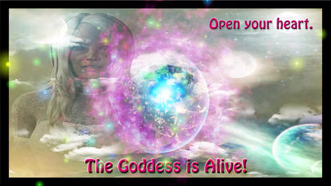 The Goddess is Alive - Die Götting lebt - Animation with Shining Particles CG動画素材
