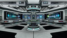 宇宙船内部 Animation