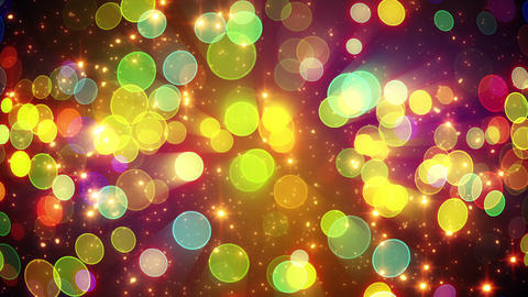 colorful circle bokeh lights and particles loop Animation