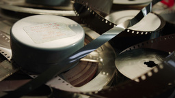 Vintage Film Stock And Audio Reels HD Stock Footage stock footage