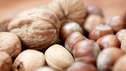 An assortment of nuts HD stock Footage Footage
