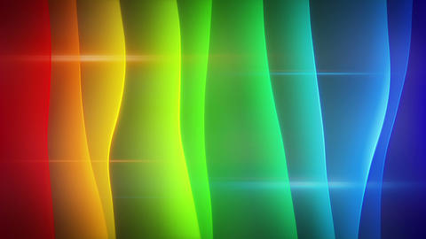 waving multicolor curves loopable background Live Action