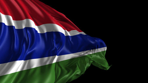 Flag of Gambia Animation