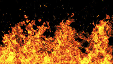 Fire Wild Slowmotion HD stock footage