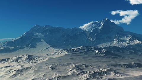 Snowy Mountains Time-lapse stock footage
