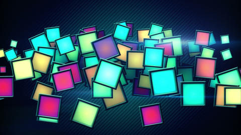 glowing colorful squars techno loop background Animation