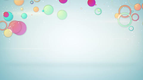 colorful circles loopable background Animation