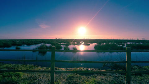 Sunset Ar Ria De Aveiro stock footage