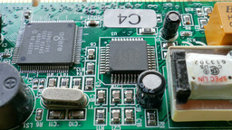 Electronic Technology. Computer Chips Footage