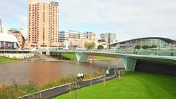 Riverbank Precinct In Adelaide, South Australia stock footage