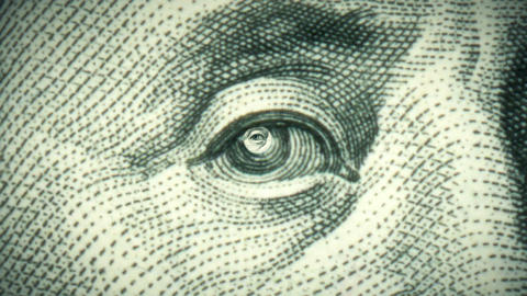 Eye Of The Dollar - Loop stock footage