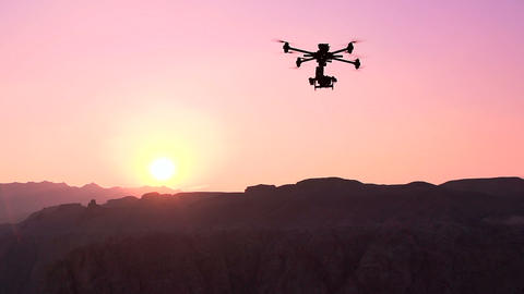 Quadrocopter Over the Canyon Footage
