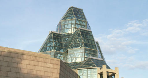 Rear view of the National Gallery of Canada Footage