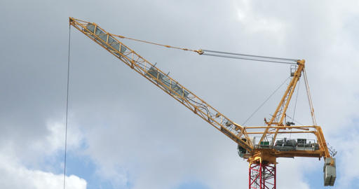 Cranes on construction site Footage