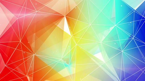 abstract triangle geometrical colorful background loop 4k (4096x2304) Animation