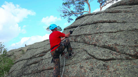 Rock climber Footage