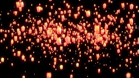 Flying Lantern Footage