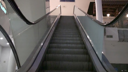 Escalator Moving Up Stairs Footage