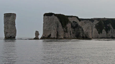 Old Harry Rocks stock footage