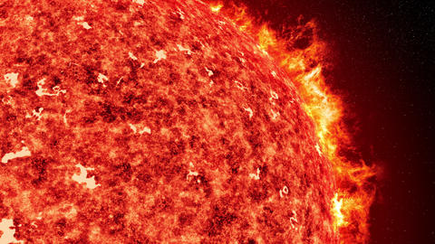 sun with solar wind and coronal mass ejection close up 4k UHD 11613 Animation