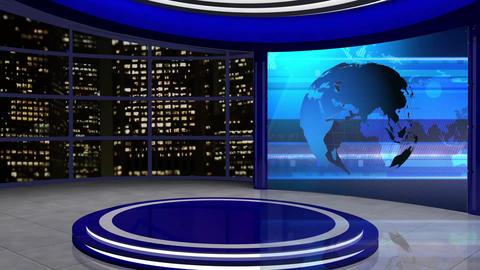 News TV Studio Set 61 - Virtual Background Loop ライブ動画