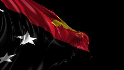 Flag of Papua New Guinea Animation