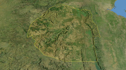 Swaziland, glide over the map, outlined Animation