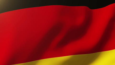 Germany flag waving in the wind. Looping sun rises style. Animation loop Animation
