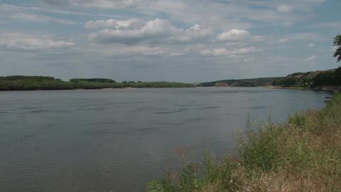 Landscape on the river 04c Footage